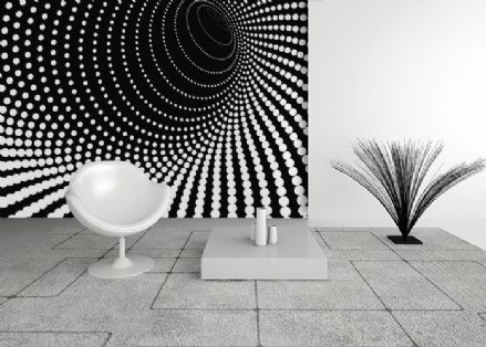 Illusion Twisted dots wallpaper murals